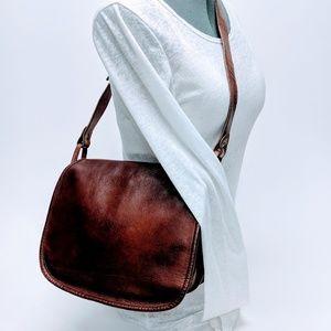 Dunhill Leather Saddlebag with Patina